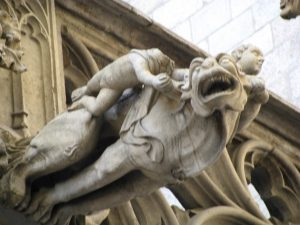 A gargoyle in the old quarter of Barcelona