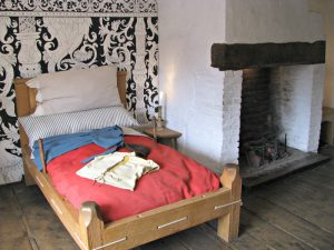 Shakespeare's bed in the family home