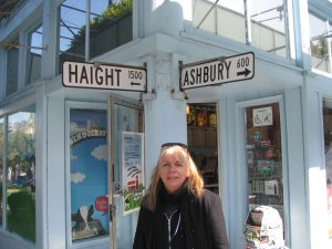 Standing at the corner of Haight and Ashbury in San Francisco