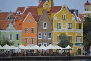 The buildings in Curacao sport a dazzling array of colour