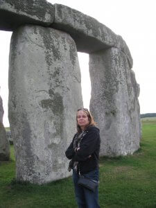 Standing next to Stonehenge