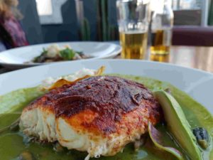 A plate of Red Snapper at the Balcon del Zocalo rooftop restaurant, Mexico City