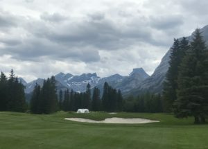 Stunning mountain views at Kananaskis Golf Course