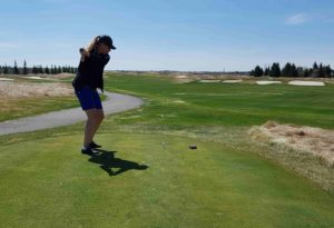 Avoiding the bunkers on the Desert course at Heritage Pointe