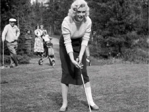Marilyn Monroe at the Banff Springs Golf Course