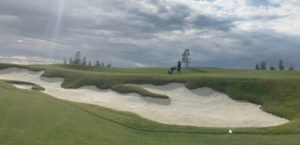 One of the many sand traps at Mickelson